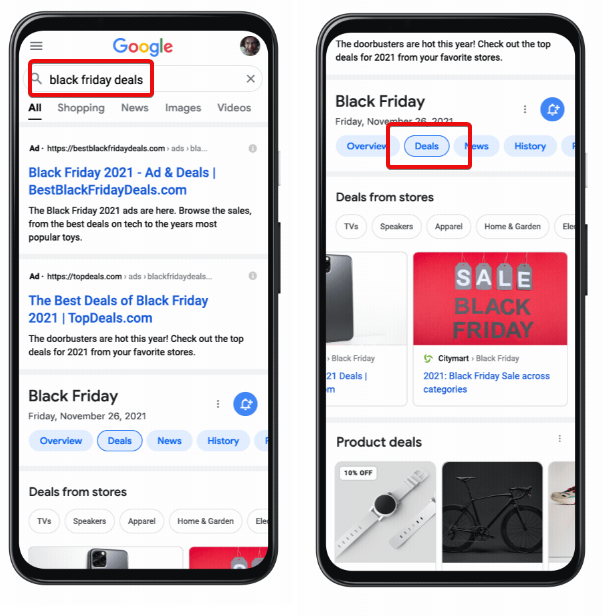 Google Brings Popular Deals For Major Retail Sales Events In To SERPs (US Only)