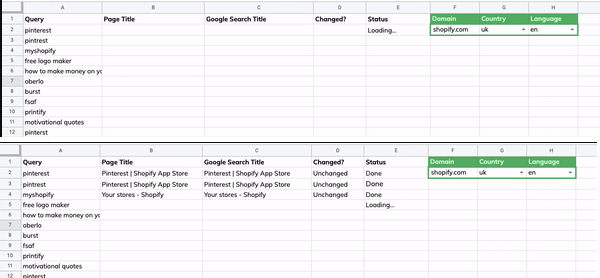 Google Sheet to Check If Your Title Tags Are Different In the SERPs