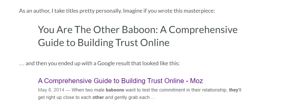 Another Google Title Update Case Study