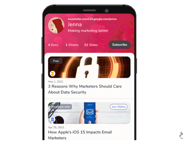 Google's Area 120 Launches A Newsletter App Called Museletter
