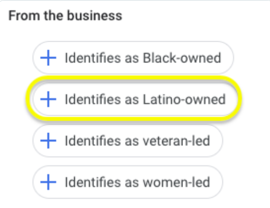 Gmb Added A Latino-Owned Attributes For Businesses