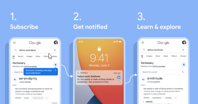Google Launches Learn A New Word Every Day Feature In SERP